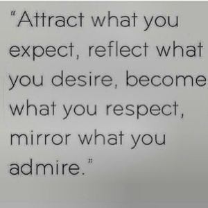attract what u expect